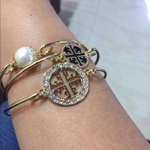 Set of 3 Tory Burch Bangle Bracelets Like New